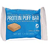 Promix Whey Protein Isolate Puff Bar, Vanilla Bean, 12 Count, 16.9oz | 15g Protein, 150 Calories Each|Low Carb Healthy Snack with Egg Whites | All Natural, Grass Fed,Gluten Free, Low Sugar, Soy Free
