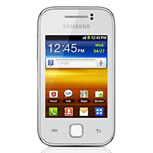 Samsung GT-S5360L Galaxy Y Unlocked Quad-Band 3G GSM Phone with Android OS, 3-Inch Touchscreen, 2MP Camera, Wi-Fi and GPS - US Warranty - White
