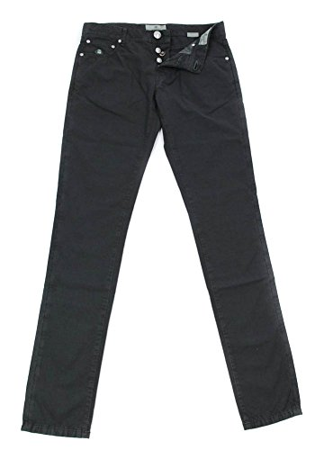 new-luigi-borrelli-gray-solid-pants-super-slim-36-52