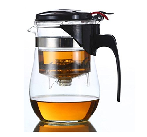 500ml Circular Heat Resistant Glass Tea Pot Flower Tea Set Puer kettle Coffee Teapot, Tea pot with infusers for loose tea
