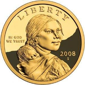 2008 S Sacagawea Native American Proof US Coin DCAM Gem Modern Dollar $1 $1 Proof DCAM US Mint