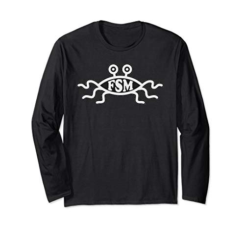 Flying Spaghetti Monster Fish Emblem Long Sleeve T Shirt ()