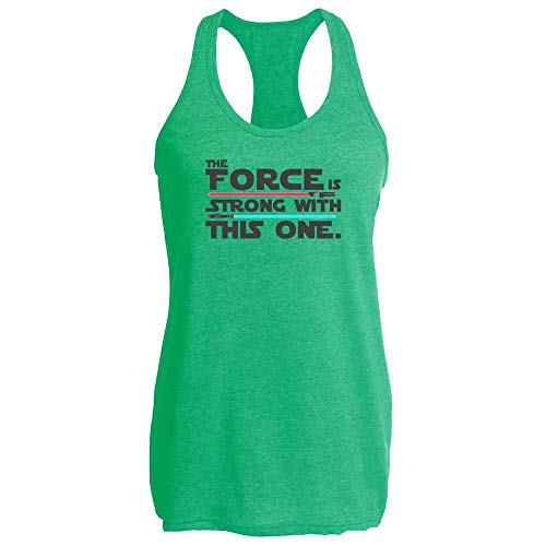 The Force is Strong with This One Heather Kelly M Womens Tank Top -