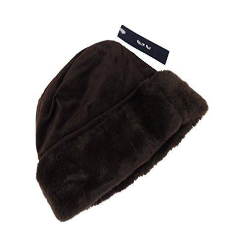 Gap Infant Girls Faux Fur Brown Hat - SIze 0-6 Months