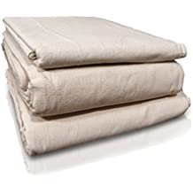 All Purpose 100% 12 x 15 Cotton Canvas Drop Cloth By Q.C.C - for painting projects and to protect your Stair wall, Carpet, Floor and Furniture/ Eco friendly and Every Contractor's choice.