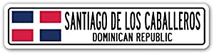 Santiago de los Caballeros, Dominicana república dominicana placa de calle regalo