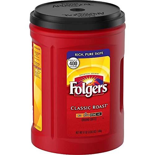 Folgers Coffee Ground (Folgers Classic Roast Ground Coffee (48 oz.)-2 Pack)