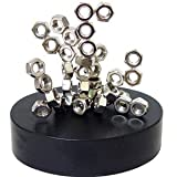 Magnetic Desktop Sculpture - Stacking Nuts - in Burlap Carry Storage Bag