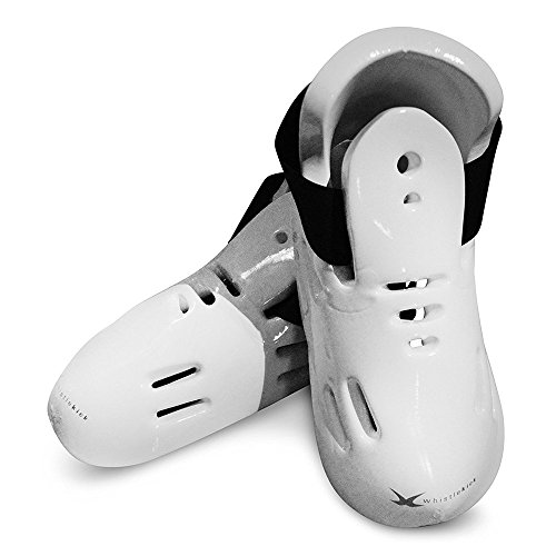 whistlekick Karate Sparring Foot Gear For Karate/Taekwondo Martial Arts with FREE Backpack-Karate Sparring Foot Gear Stratus, White (Adult, Small) (Shoes Sparring Martial Arts)