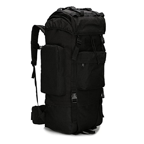 ZX&Q Upgraded Version Alpinismo Outdoor Profesional Caminando Gran Capacidad Cómoda Respirable Oxford Tactical Impermeable 65L Doble Bolsa De Hombro,A,65L D