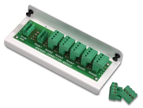 Leviton 48211-6A 1x6 Passive Audio Module (For Use with Impedance Matched Volume Controls SGVSM), White by Leviton