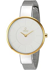 Obaku Womens Quartz Stainless Steel Dress Watch, Color:Silver-Toned (Model: V149LXAIMC)