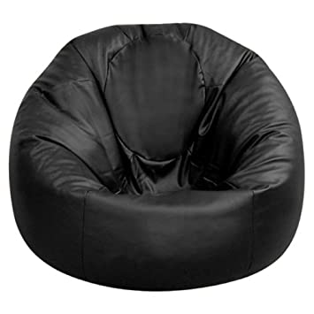 Bean Bag Bazaar XXL Bean Bag - Extra Large Man Size Beanbag Chair BLACK Faux  Leather 06d90fbf93d55