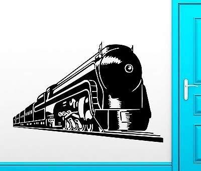 Wall Decal Wagon Train Transport Railroad Locomotive Rails Vinyl Decal VS326