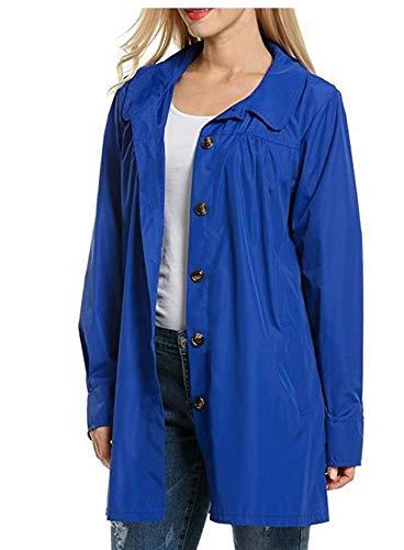 Azul con Women Capuch Impermeable Keephen Abrigo fqgpA6