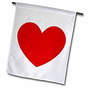 Patricia Sanders Creations - Full of Love Red Heart - Lovable Art - 12 x 18 inch Garden Flag (fl_49739_1)