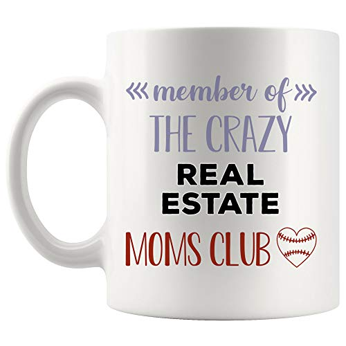 Crazy Mom Club Real Estate Agent Mug Coffee Cup Tea Mugs GiftCoworker Son Daughter Mother Day Aunt | Best Mommy Realtor Sell Home Seller Funny World Gift Future Most - Club Wine Estate