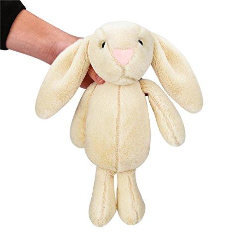 Gbell Child Kids Stuffed Plush Cute Big Ear Bunny Fluffy Animal Doll  Beige