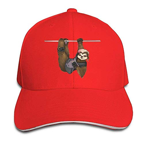 HOOAL Hat Sloth Girl Denim Skull Cap Cowboy Cowgirl Sport Hats for Men Women for $<!--$5.99-->
