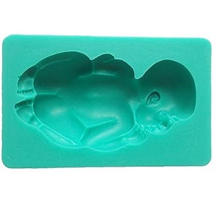 oxforder gigante grande recién nacido bebé dormir boca abajo grado alimenticio Gunpaste Fondant Glaseado Molde,
