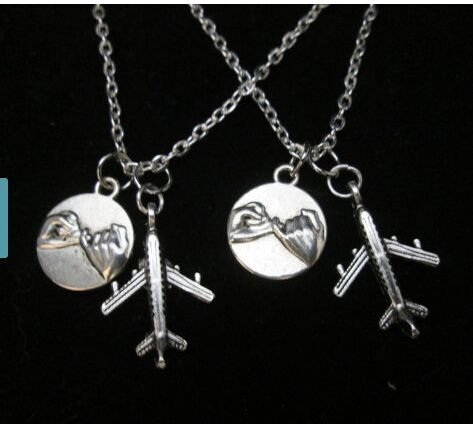 necklaces Airplane Promise distance friendships