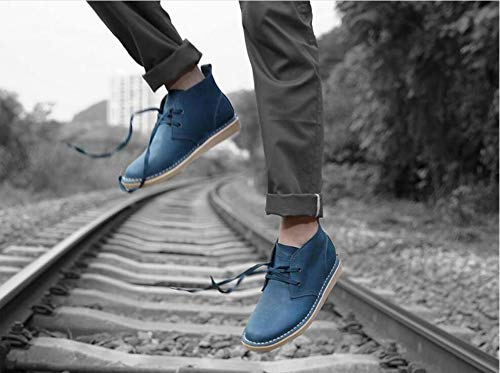 ZHANGHUI Mens Fashion England Leather Tooling Shoes Shoes Large Size High Help Martin Boots