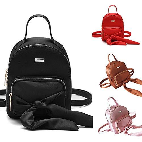 Xmas Solid Shoulder School Pink Color Yamalans Gift Travel Bowknot Rucksack Bag Backpack Mini Bn56IgIv