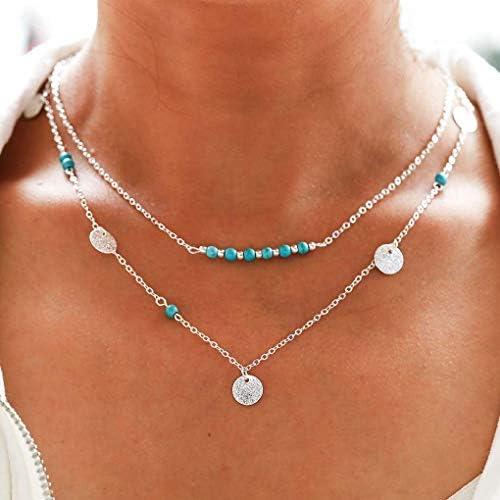 Tgirls Handmade Layered Necklaces Turquoise product image