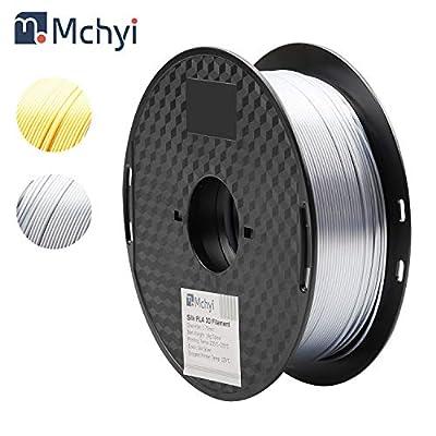 PLA Filament 1.75mm, MCHYI Silky Shiny 3D Printer Filament for 3D Printer and 3D Pen, 1kg 1 Spool