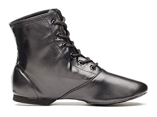 Cheapdancing Men's Practice Dancing Shoes Soft Leather Flat Jazz Boots