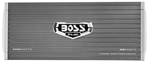 BOSS Audio AR2400.4 Armor 2400 Watt, 4 Channel, 2/4 Ohm Stable Class A/B, Full Range, Bridgeable, MOSFET Car Amplifier with Remote Subwoofer Control