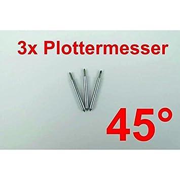 3 x de trazado navaja de 45° para Roland plotter de corte de ...