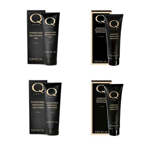 Qtica Intense Hand and Foot Peel & Intense Overnight Hand and Foot Balm Set 8 oz each