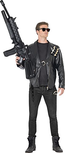 Smiffy's Terminator Costume With Jacket, Bullet Belt And Glasses - Black, Medium