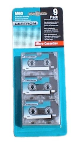 9 Qty Certron Blank Micro Cassettes 9 Hours of Recording