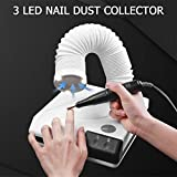 ARTNAIL 60W Powerful Nail Dust Collector Manicure Pedicure Tool 2 in 1 Nails Vacuum Cleaner Retractable Elbow Design for Nails Art Fan