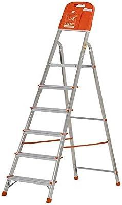 Gierre M262795 - Escalera aluminio kylate al160 6 peldaños: Amazon.es: Bricolaje y herramientas