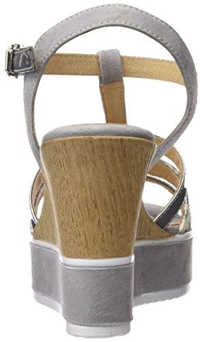 Gadea 40638, Sandalias con Tira de Tobillo Para Mujer Varios Colores (Likid Plata /     Antenea Natural)