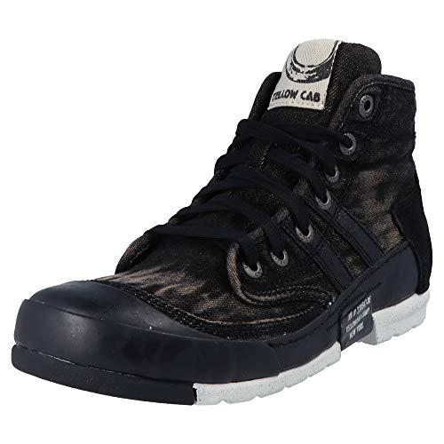 Les Hommes De Taxi Jaune Boue M Sneaker Haut, Noir (noir)