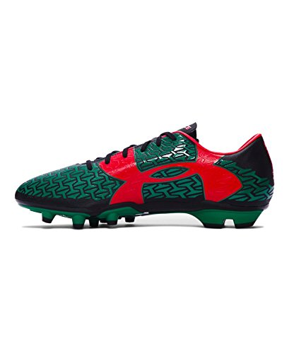 Under Armour Herren UA CF Force 2.0 FG Schwarz / Rot // Grün