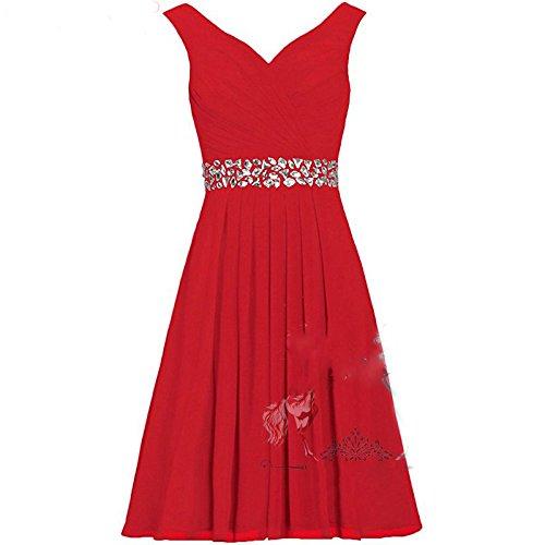 sposa da rosso damigella a brindisi tubo sposa annuale colletto Abito lungo XXL abiti da sedia d'onore sera SHJJK V x5TXqFRw