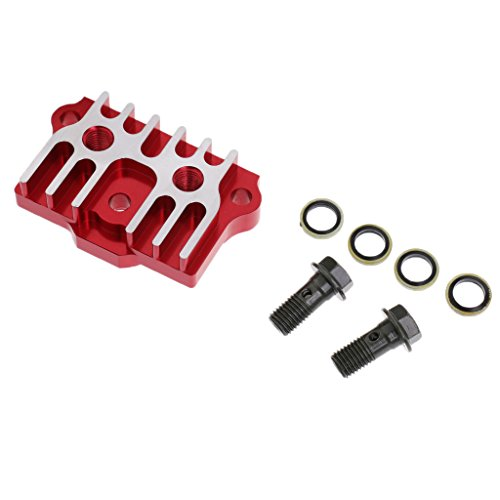 Ice Pit - Dovewill Red CNC Oil Cooler Radiator 125cc/140cc for Monkey Pit Dirt Bike Motorcycle