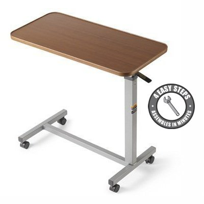 Double Support Rails (Eva Medical Adjustable Overbed Table with wheels (Hospital and Home)