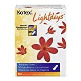 Kotex Lightdays Regular Unscented Pantiliners 64 ct (Pack of 12)