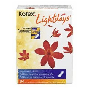 Kotex Lightdays Regular Unscented Pantiliners 64 ct (Pack of 12) by Kotex