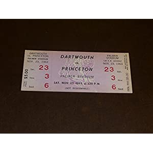 1963 DARTMOUTH AT PRINCETON COLLEGE FOOTBALL FULL TICKET EX