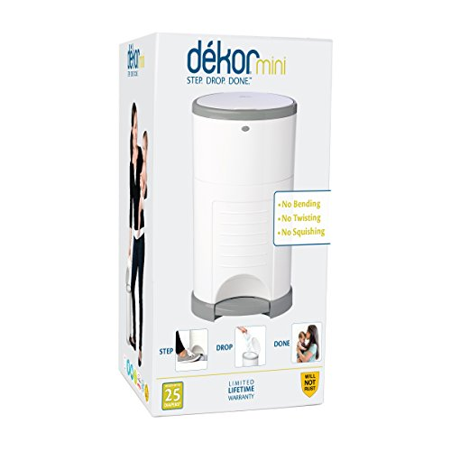Dekor Mini Hands-Free Diaper Pail | Easiest to Use | Just Step – Drop – Done | Doesn't Absorb Odors | 20 Second Bag Change | Most Economical Refill System | White by DEKOR (Image #8)