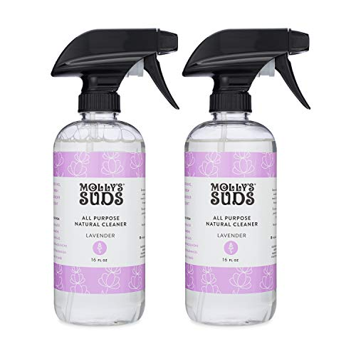 Molly's Suds Natural All Purpose Cleaner, Multi Surface Household Spray, Lavender Scent, 16 oz (2 Pack)