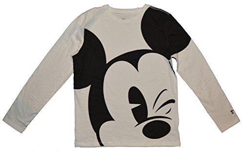 GAP Kids Disney Mickey Mouse White Black Shirt XS 4 5