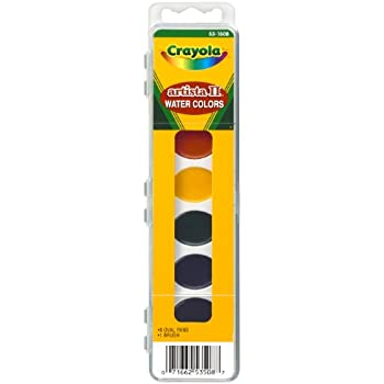 Amazon.com: Crayola Watercolor Mixing Set with 8 Semi-moist Oval ...